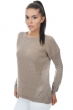 femme pull col rond divine natural brown t3