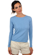 femme pull col rond line bleu azur chine m