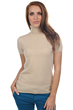 femme pull col roule olivia beige chine s