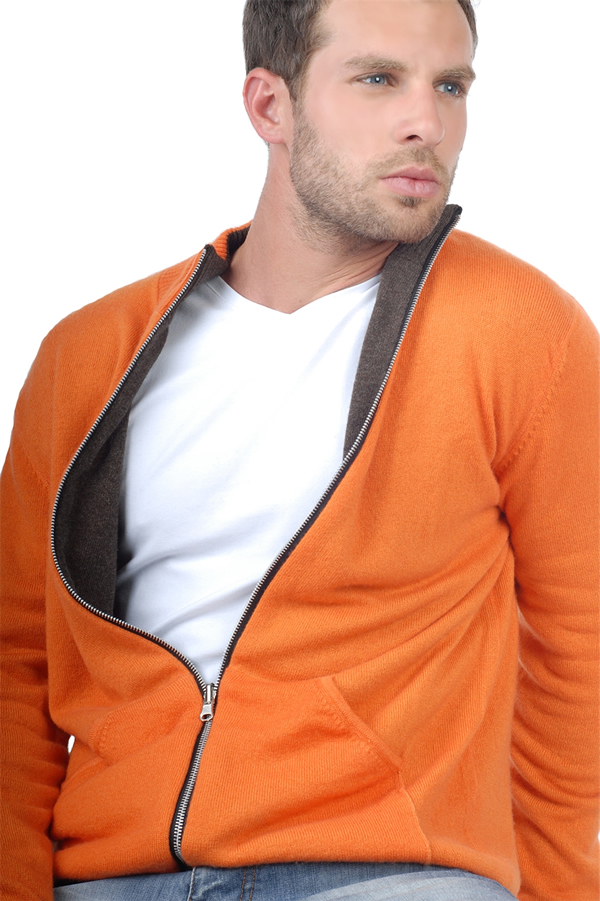 homme gilet t shirt thomas marron chine orange 2xl