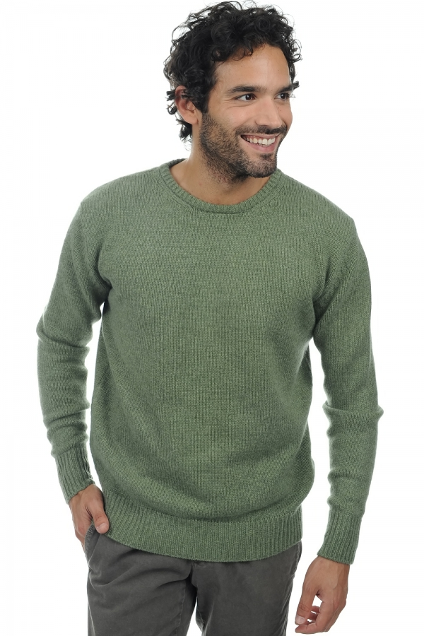 homme pull col rond bilal vert chine m