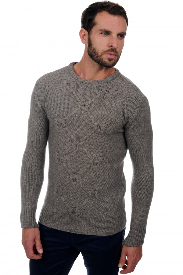 homme pull col rond lorenzo marmotte naturel l
