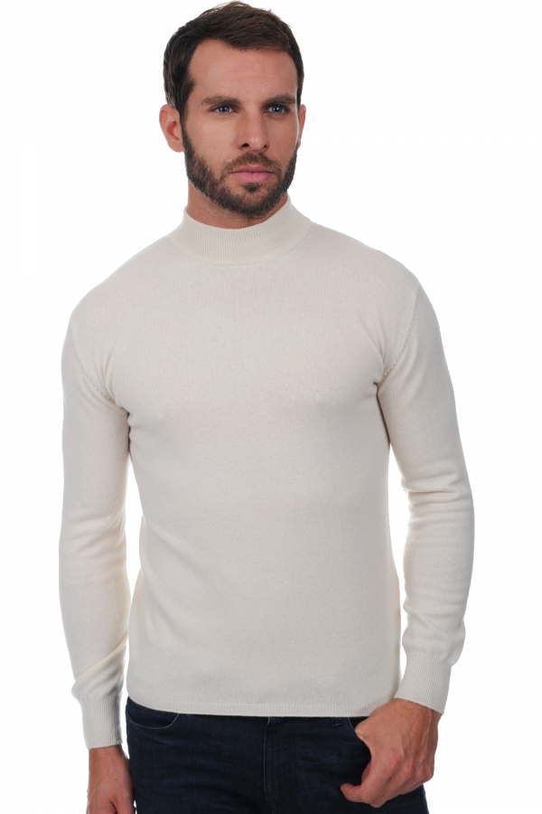 homme pull col roule frederic ecru m