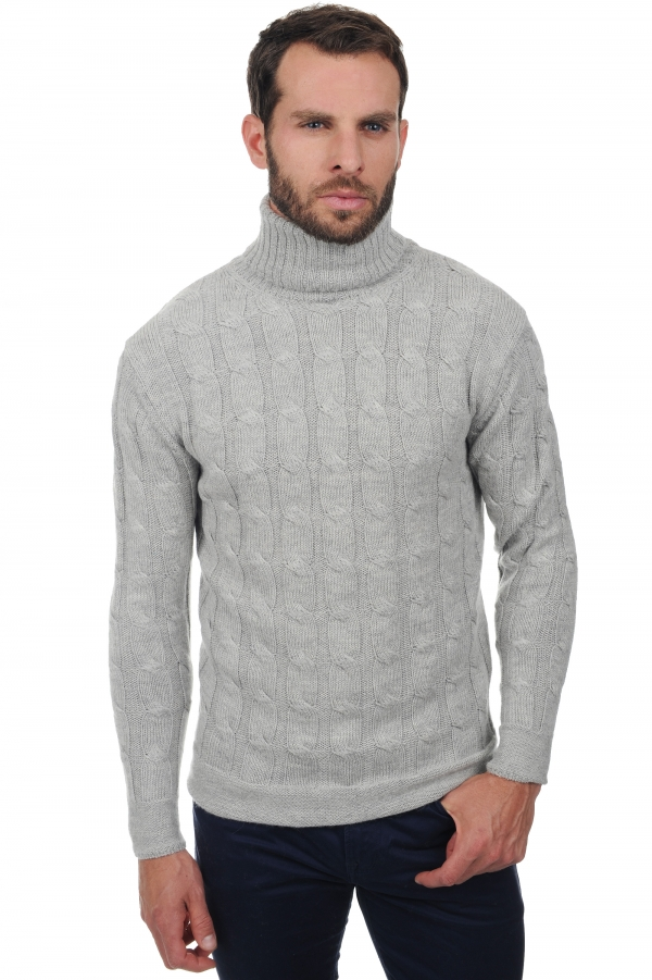 homme pull col roule harrison flanelle chine m