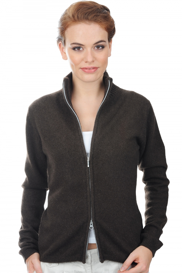 pull yak femme yaktally marron naturel s