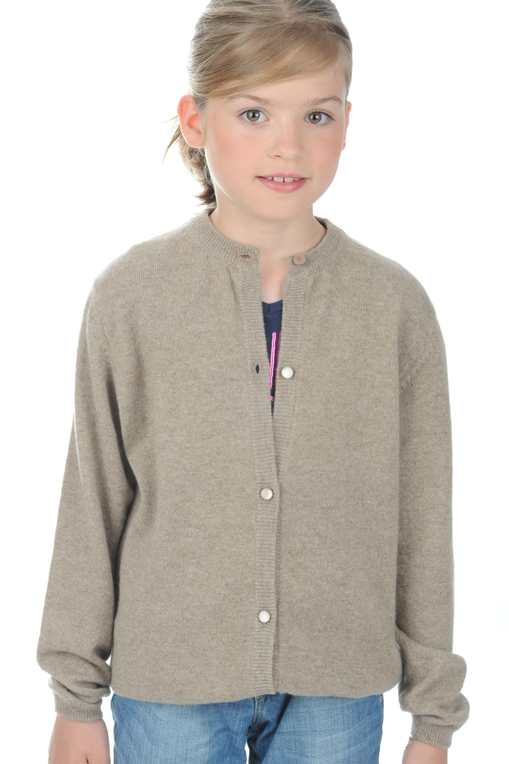 femme pulls enfants filles chloe girl natural brown chine 2 ans