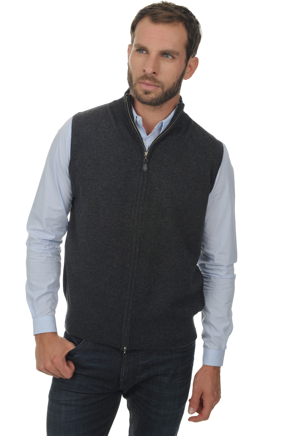 homme gilet t shirt dali anthracite chine xl