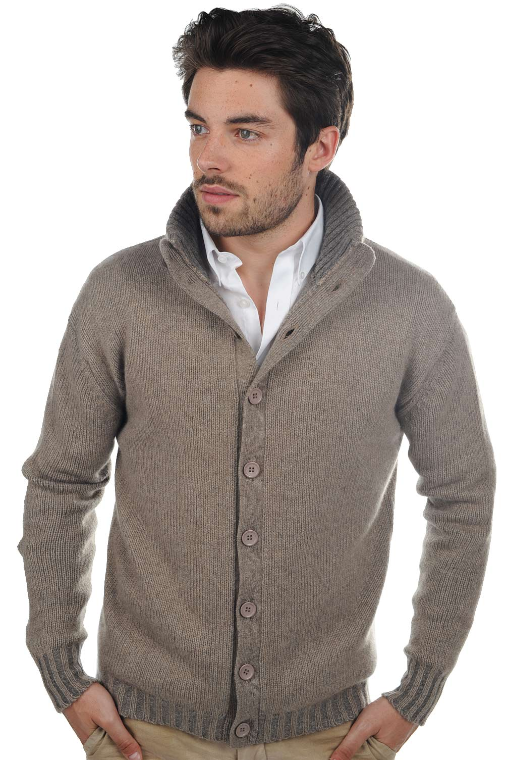 homme gilet t shirt jo natural brown marmotte m