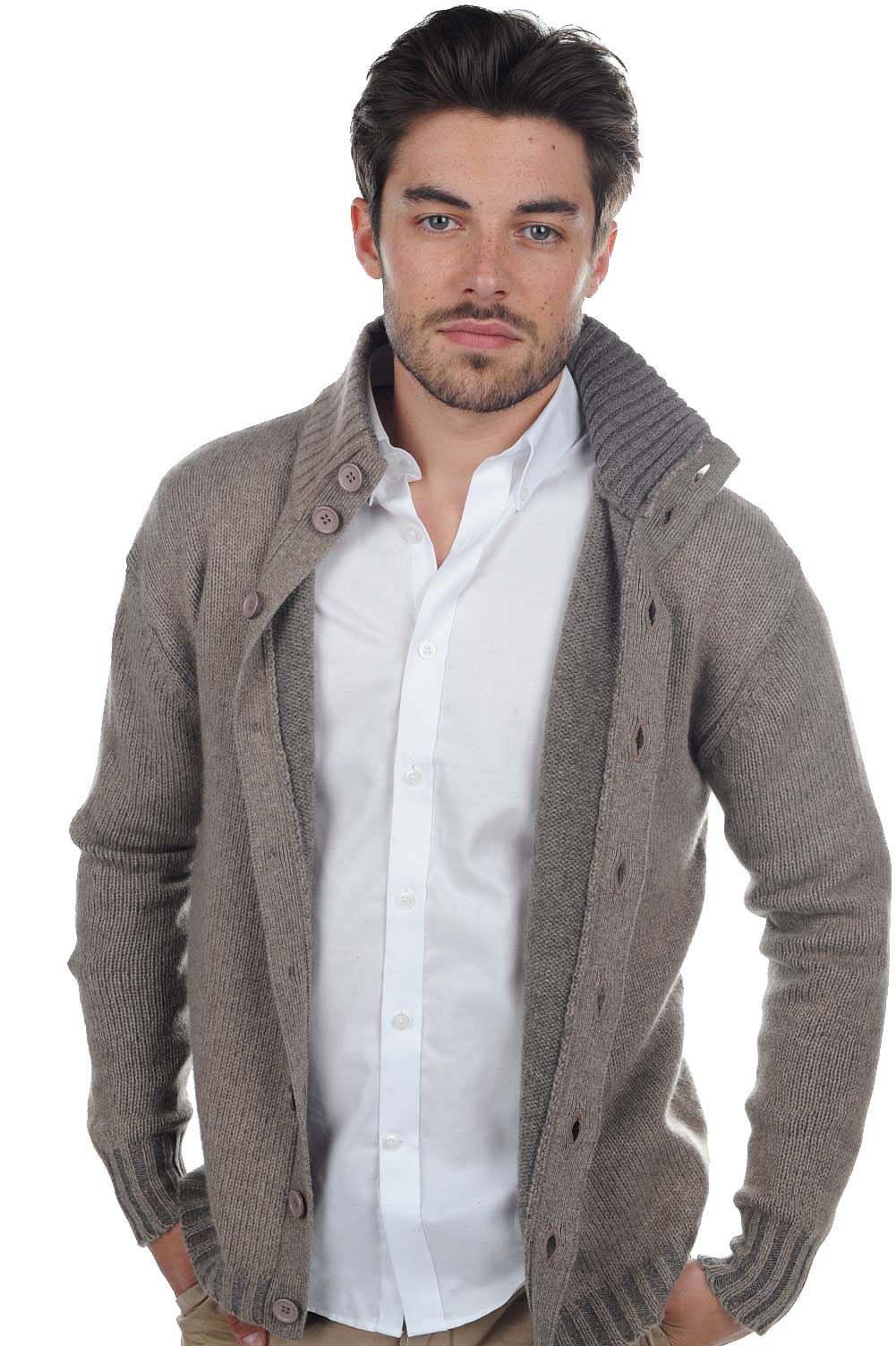 homme gilet t shirt jo natural brown marmotte xl