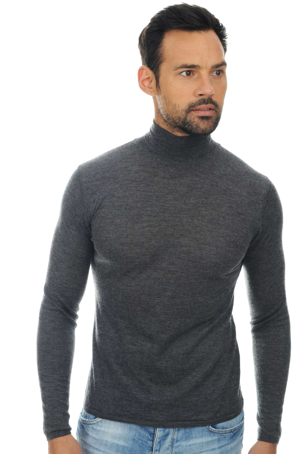 homme pull col roule bixente anthracite chine s