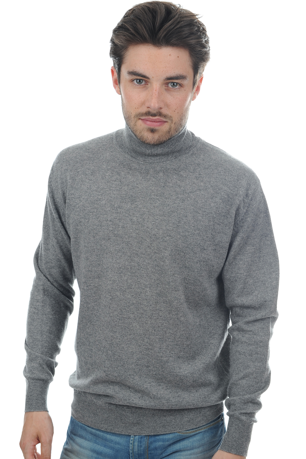 homme pull col roule edgar gris chine m