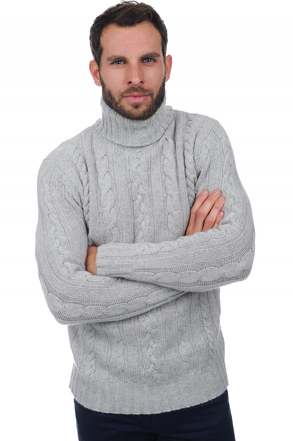 homme pull col roule lucas flanelle chine xl
