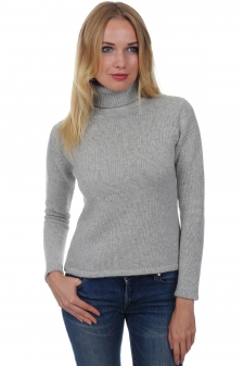Cachemire  pull femme col roule carla