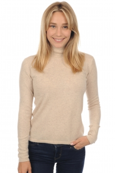 Cachemire  pull femme col roule jade