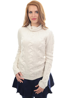 Cachemire  pull femme col roule pippa
