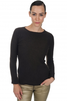Yak  pull femme col rond bianca