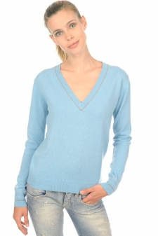 Cachemire  pull femme col v emerson