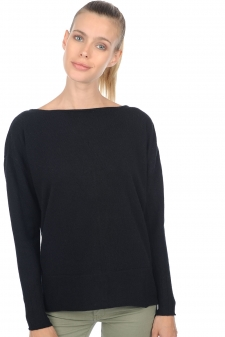 Cachemire  pull femme col rond hoela