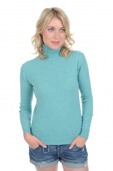 Cachemire  pull femme col roule tale