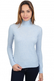 Cachemire  pull femme col roule lili