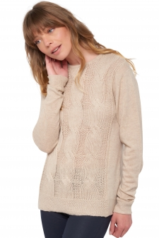 Cachemire  pull femme col rond shae