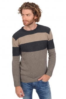 Cachemire  pull homme col rond paulin