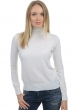 Cachemire pull femme col roule lili blanc casse s