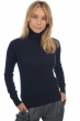 Cachemire pull femme col roule lili marine fonce 4xl