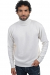 Cachemire pull homme col roule edgar 4 fils blanc casse m