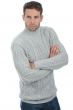 Cachemire pull homme col roule platon flanelle chine m