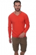 Cachemire pull homme col v walt corail lumineux m