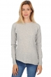 cachemire pull femme col rond aziliz flanelle chine xl