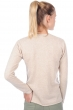 cachemire pull femme col v cassie beige intemporel natural brown chine s