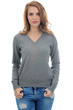 cachemire pull femme col v faustine gris chine s