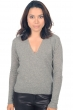 cachemire pull femme col v janice gris chine s