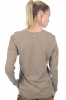 cachemire pull femme col v joplin natural brown chine s