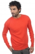 cachemire pull homme col rond keaton corail lumineux m