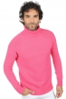 cachemire pull homme col roule mamadou rose shocking 2xl