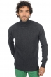 cachemire pull homme col roule zinedine anthracite chine s