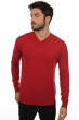 cachemire pull homme col v maddox rouge velours xl