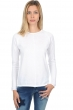 coton giza 45 pull femme col rond ireland blanc l