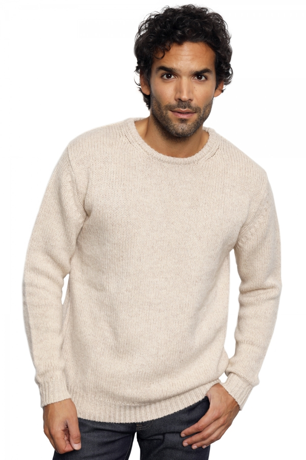 Chameau pull homme col rond cole nature m