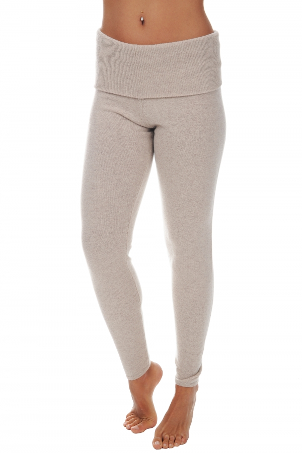 cachemire pantalon legging femme shirley beige intemporel xs