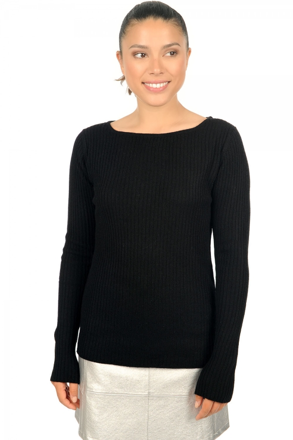 cachemire pull femme col rond daffiny noir l