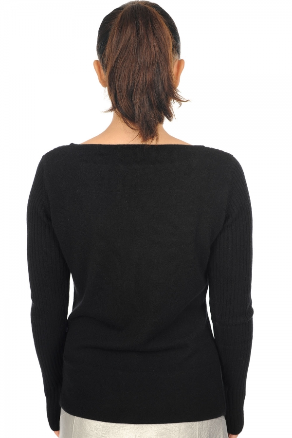 cachemire pull femme col rond daffiny noir m