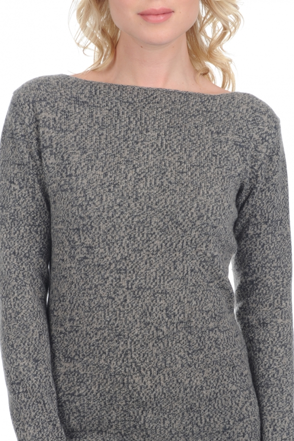 cachemire pull femme col rond laurel millepatte s