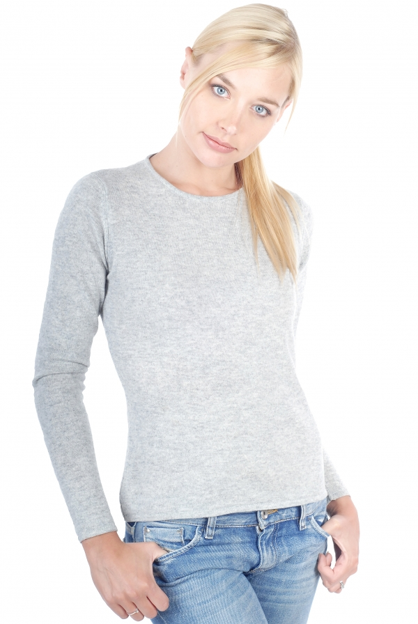 cachemire pull femme col rond line flanelle chine s