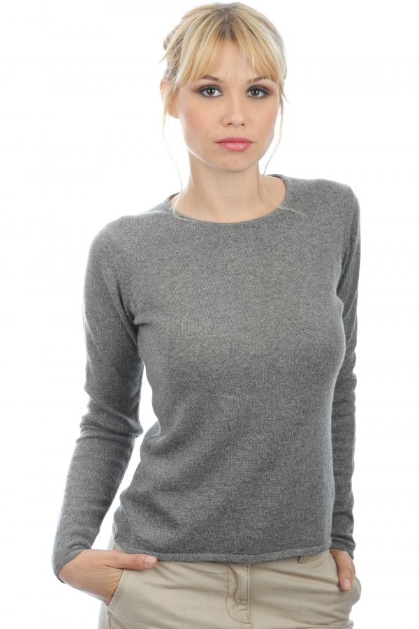 cachemire pull femme col rond line marmotte chine 2xl