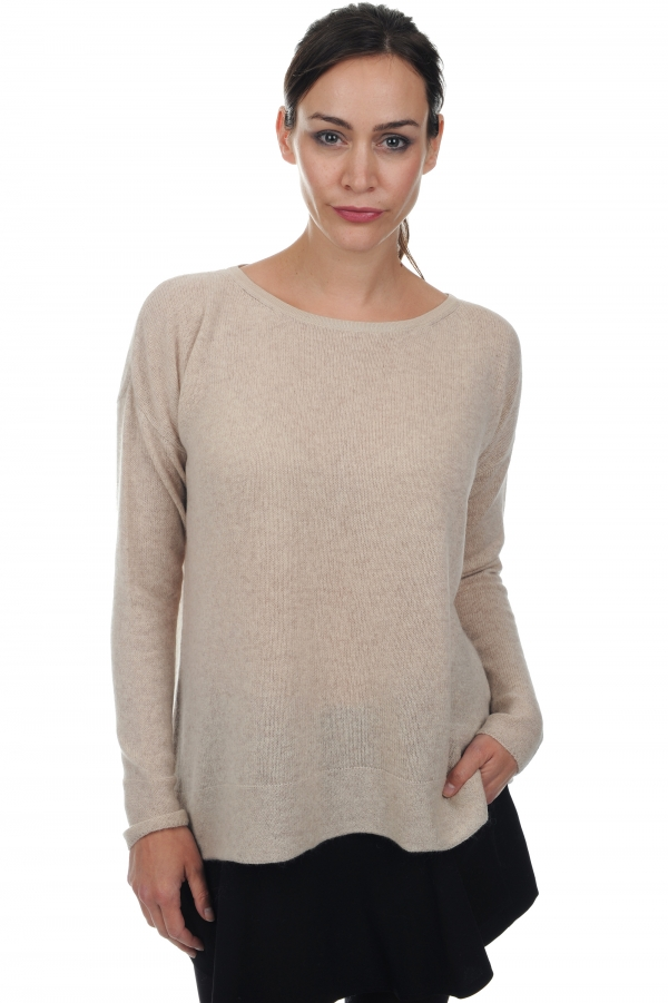 cachemire pull femme col rond luce beige intemporel t2