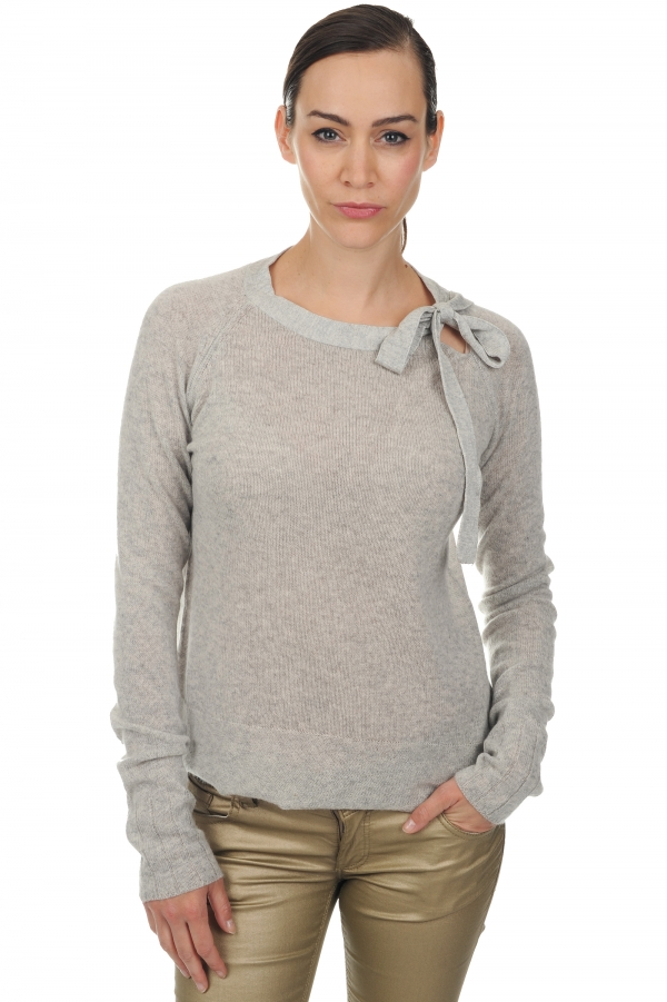 cachemire pull femme col rond marcia flanelle chine l